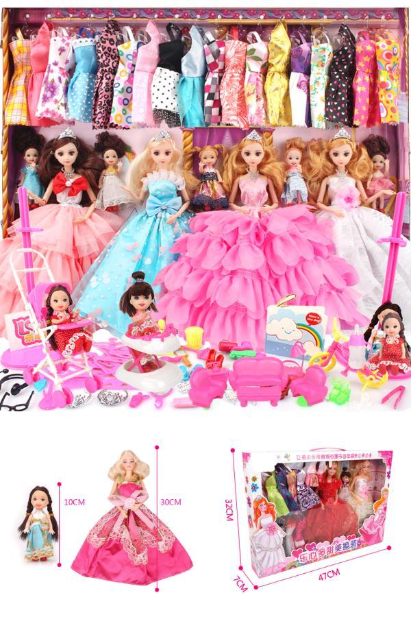 仿真换装黛蓝芭比洋娃娃套装大礼盒精致公主女孩玩具单个梦想豪宅