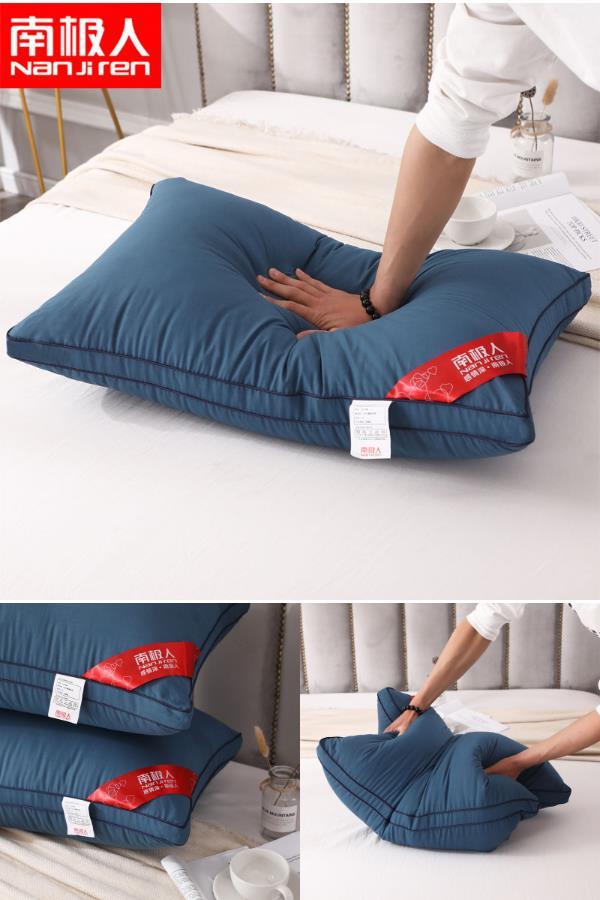 可水洗枕頭一對裝送枕套酒店枕芯護頸家用