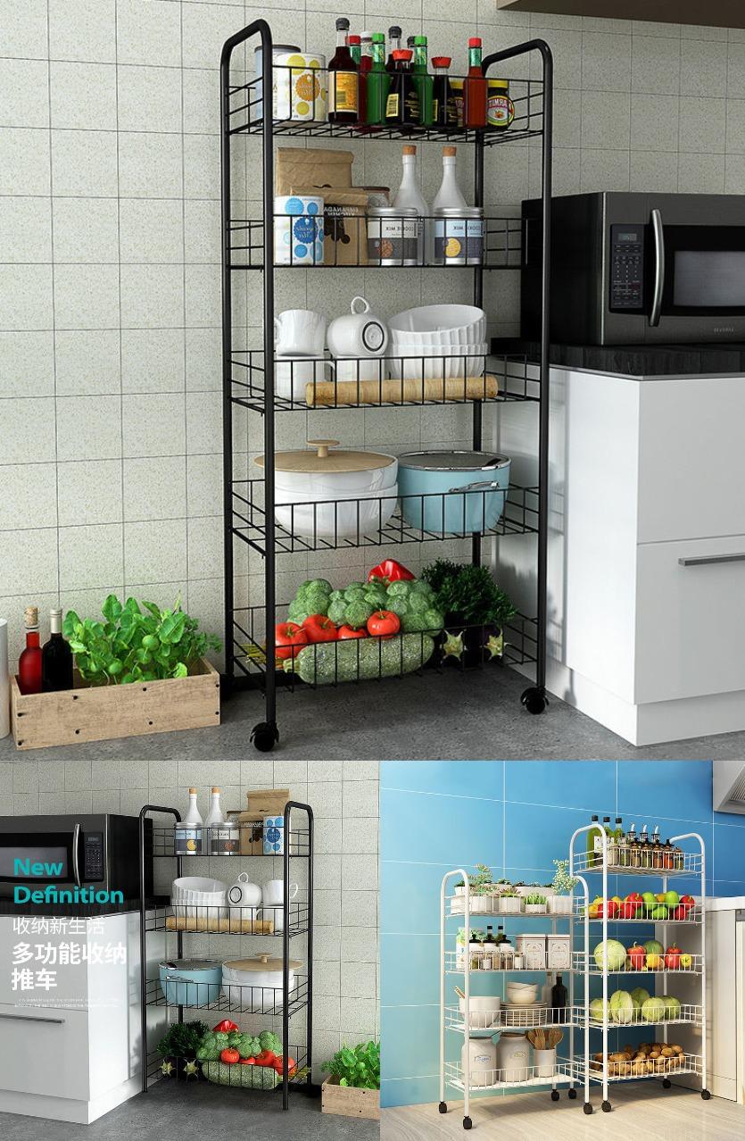 居家日用蔬菜架水果菜篮厨房置物架带轮